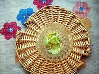 升级版山东名菜烧二冬,准备一些葱花和姜末