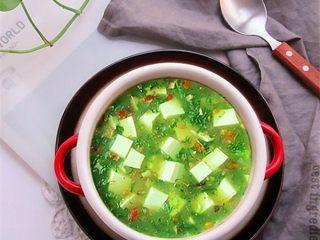 荠菜肉末豆腐羹,终于做好了,装碗美美的享受吧