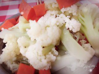 简易家常菜,把烫过的蔬菜放在一边控控水,放凉