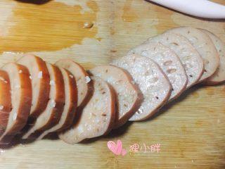 桂花糯米藕,切片摆盘