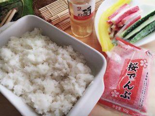 樱花寿司,准备所需用料