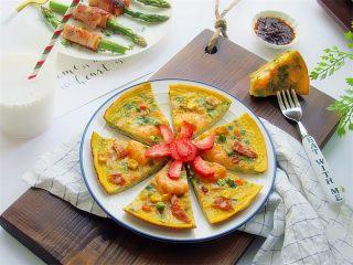 虾仁韭菜厚蛋饼,一天的早餐,可以打开享用的模式啦