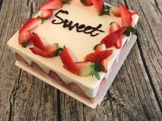 6寸草莓酸奶慕斯蛋糕超简单