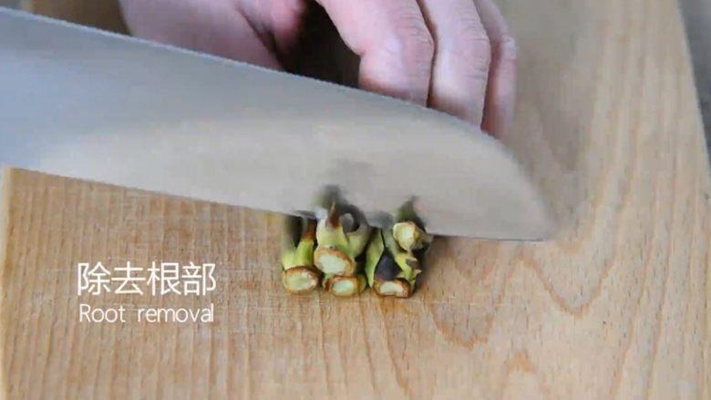 吃出春天的味道——香椿炒鸡蛋,去除根部