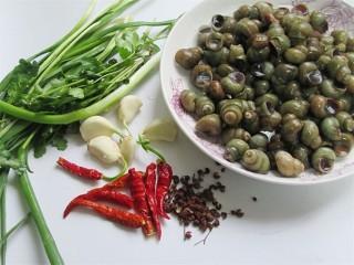 开胃麻辣螺蛳,在等待的过程中,我们来准备好其他材料,怕吃辣的,可以少放一些辣椒和胡椒粉