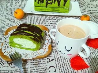 抹茶戚风蛋糕卷,美好的一天从早餐开始