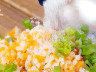 香煎虾饼-宝妈首选的补钙儿童餐,半茶匙白糖