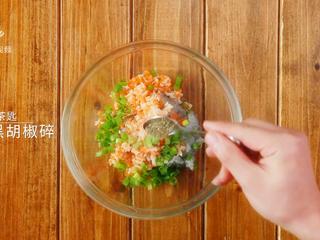 香煎虾饼-宝妈首选的补钙儿童餐,1茶匙黑胡椒碎