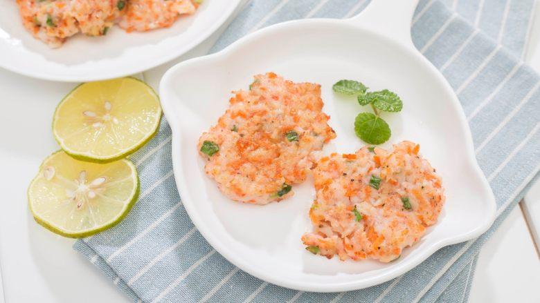 香煎虾饼-宝妈首选的补钙儿童餐