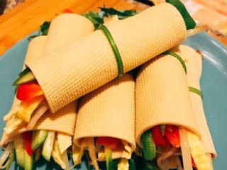 蔬菜豆皮卷