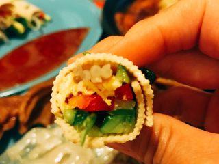 蔬菜豆皮卷,清清爽爽 五彩缤纷。