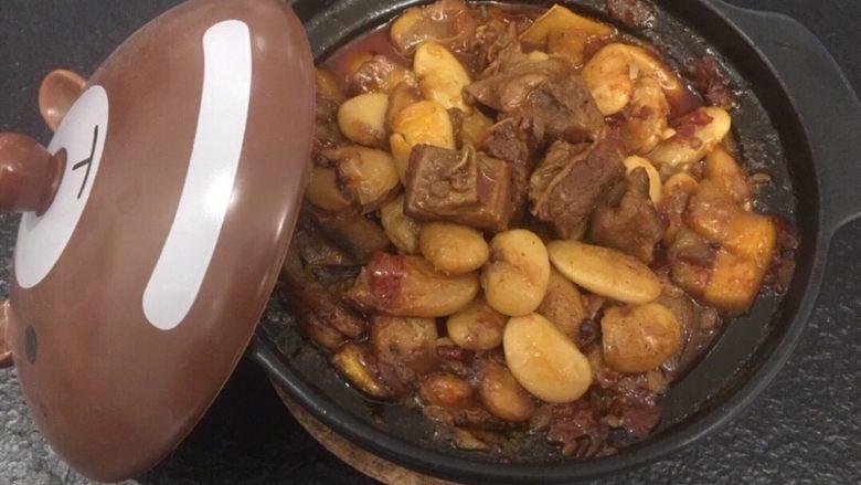 红烧牛肉(大白豆+小芒果版)