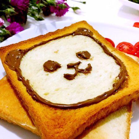 小熊卡通吐司面包搭配出的养颜早餐,绝对不能错过