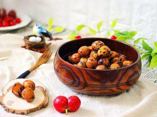 普洱茶卤鹌鹑蛋(王氏私房菜),成品一