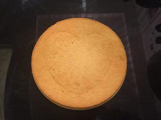 鲜花巧克力淋面蛋糕,准备2片圆形蛋糕片