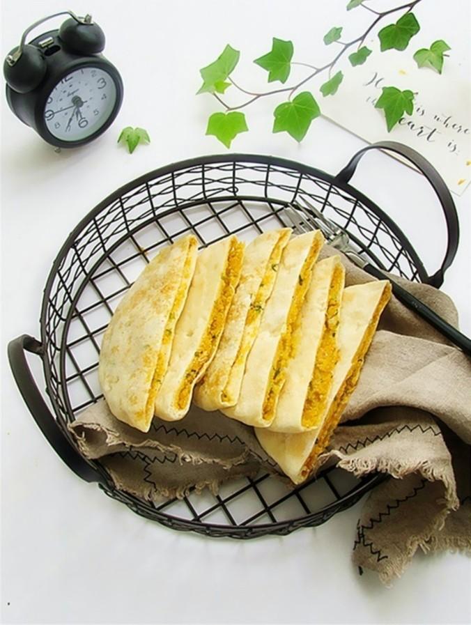 玉米馅葱香饼
