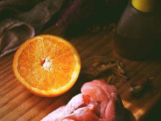 春日小清新之 香橙煎鸡肉,准备材料