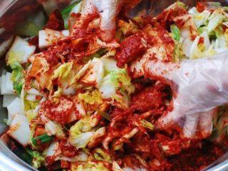 【下饭菜】腌菜集锦,大白菜和酱料拌匀