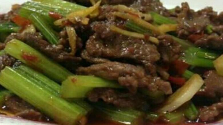 牛肉条炒芹菜