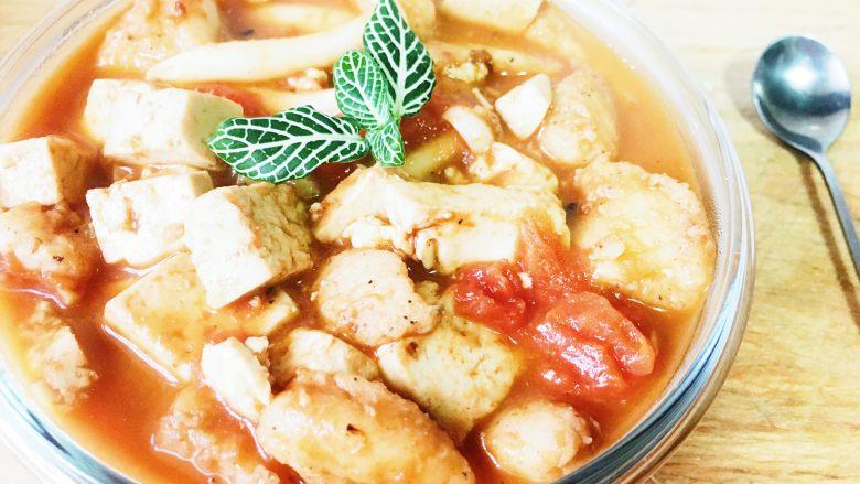 浓汤番茄豆腐龙利鱼