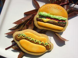 英式皇家糖霜饼干---汉堡包