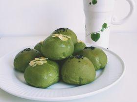 【网上厨房独家】抹茶肉松(蜜豆)小餐包