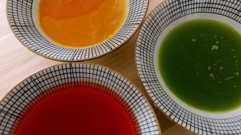 茴香馅猪肉饺子,南瓜汁、黄瓜汁、红曲米水