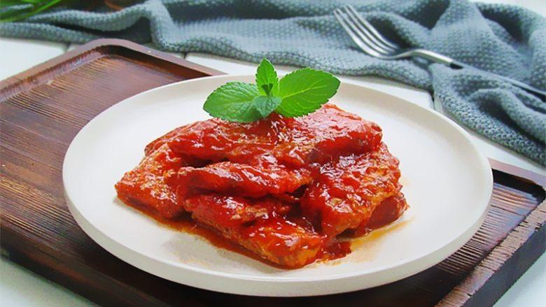 茄汁带鱼,成品欣赏