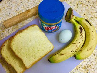 香蕉吐司卷,准备食材