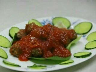 番茄牛肉丸