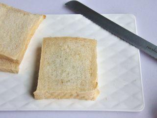 口袋三明治,再盖上一片吐司。