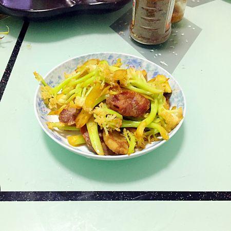菜花炒腊肠