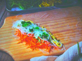 越南春卷 春天的小清新,粉丝上放一根香菜