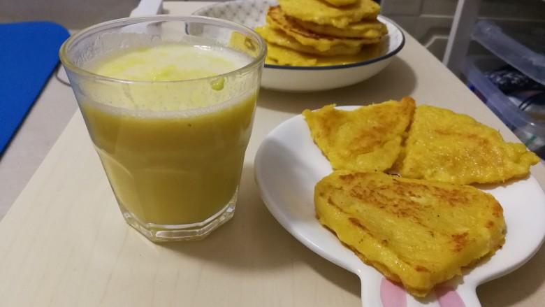 玉米汁and玉米渣饼
