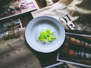 一清二白 久吃不腻的 小葱拌豆腐,葱切几片 随意切碎