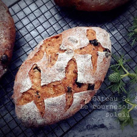 亚麻籽黑提硬欧面包