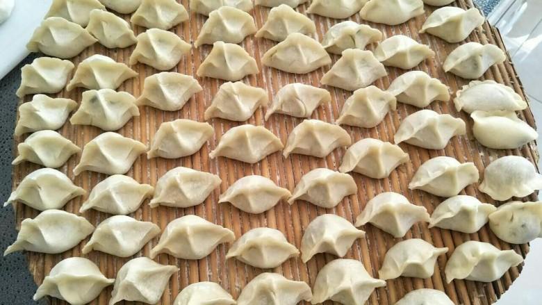 鱼馅饺子+槐花肉饺子