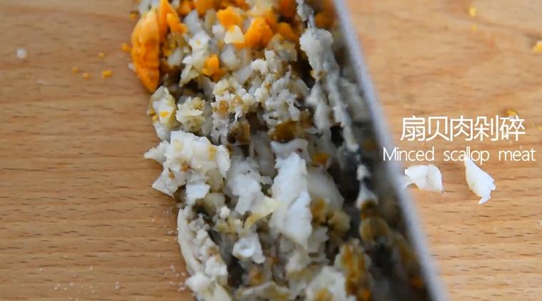 没有螃蟹的赛螃蟹,孙红雷最爱吃的菜!,扇贝肉剁碎