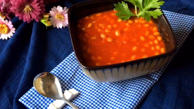 《茄汁黄豆》,成品