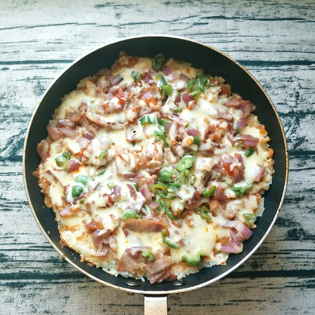 平底锅披萨(土豆米饭)