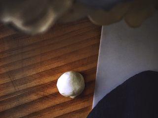 健康无油的 水晶烧卖,分成小团(大概2个手指宽) 放在涂油的面板上