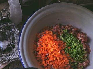 健康无油的 水晶烧卖,将西兰花与胡萝卜放入肉馅中