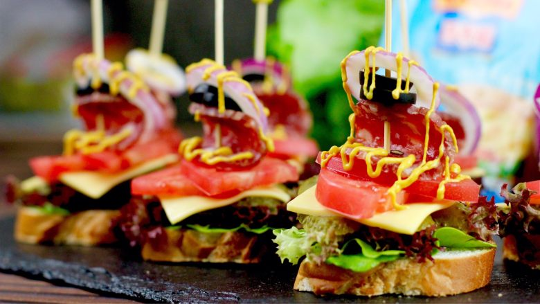 开放三明治,成品图
