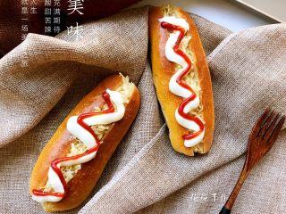 肉松小热狗面包,成品3