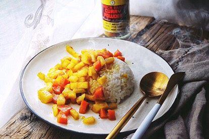 减肥福利 无油快手 素咖喱饭