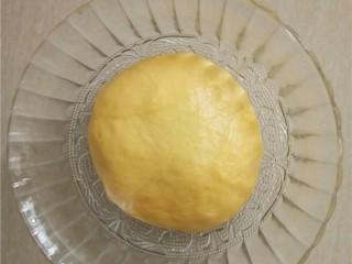 椰蓉花朵面包,盖上保鲜膜,室温发酵30分钟。