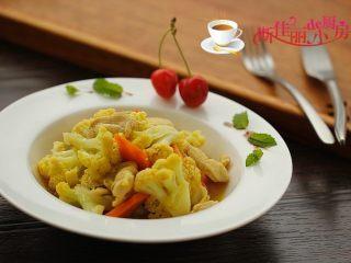 咖喱鸡片菜花
