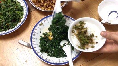 客家擂茶·精品素菜,放韭菜末