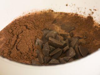 冰淇淋三明治,可可粉巧克力放入牛奶中用小锅煮,煮到巧克力融化,搅拌均匀之后很光亮