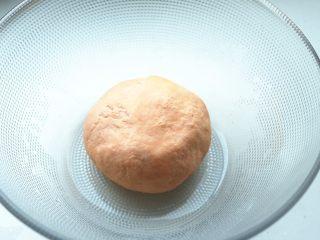 胡萝卜虾饺,再用手揉成面团,最好醒发一会,醒发的时候要用保鲜膜盖严,否则表面会风干。我还同时活了个白面团。